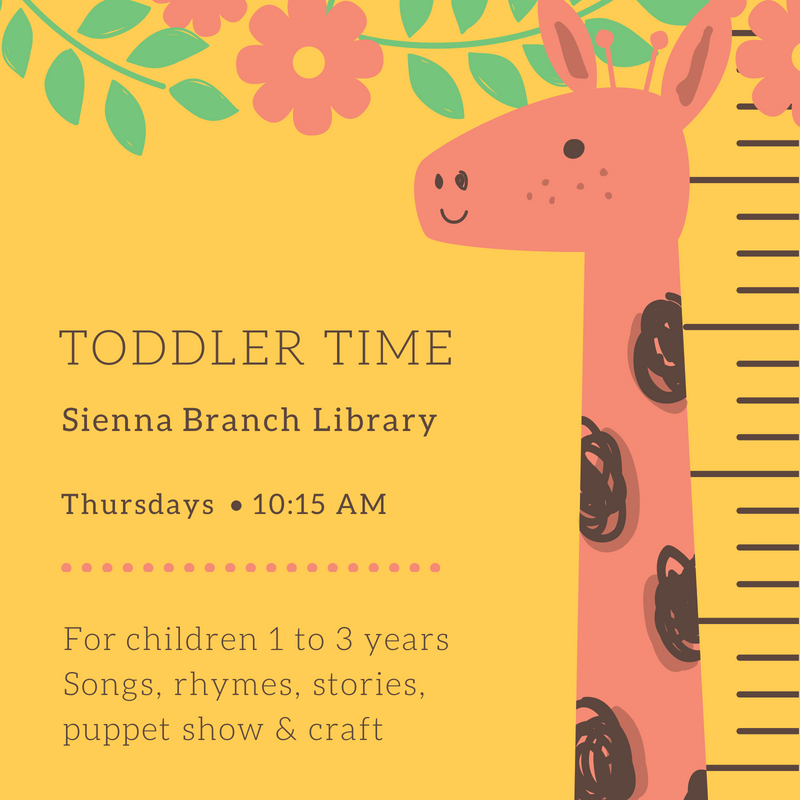 Toddler Time flyer