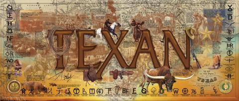 "Graphic of the word ""Texan"""