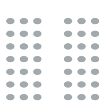 room setup icon of two sections of seating separated by a central aisle and a screen up front