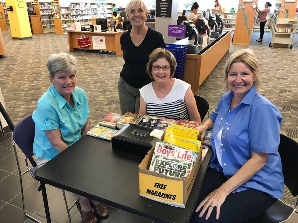 "Members of ""Friends of the Library"" at the Sienna Branch Library"
