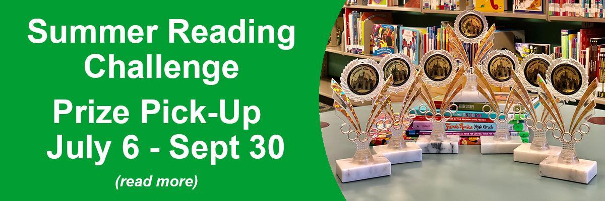 2020 Summer Reading Challenge Prize Pick-Up