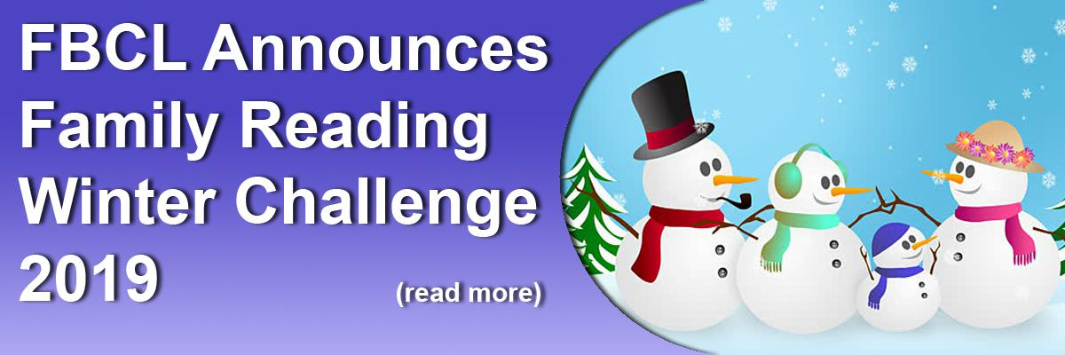 FBCL Announces Family Reading Winter Challenge 2019