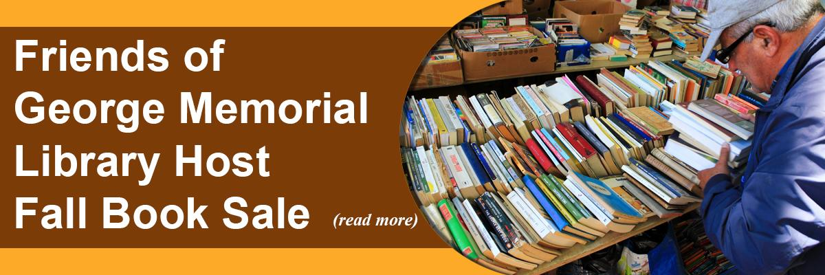 Friends of George Memorial Library Host Fall Book Sale