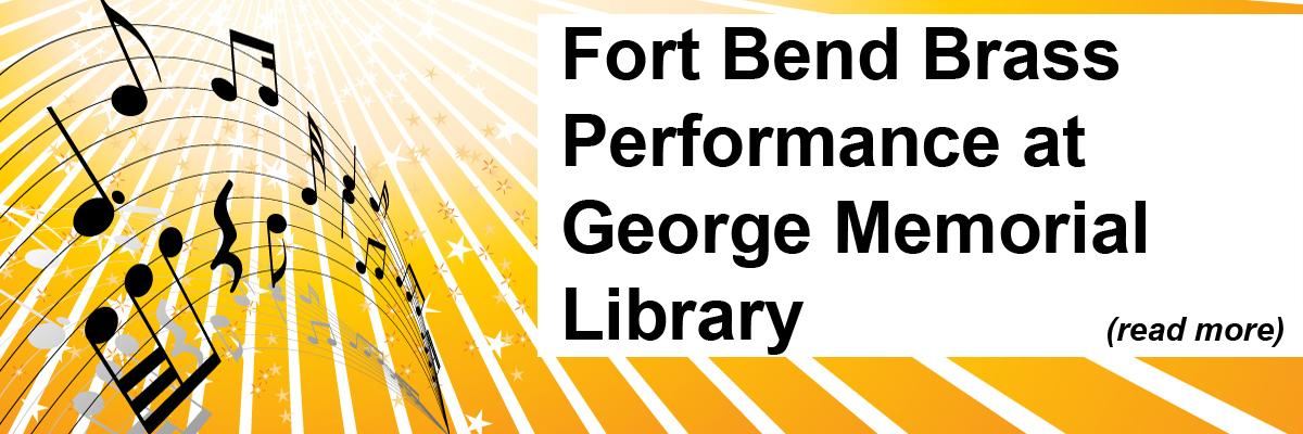 Fort Bend Brass Performance at George Memorial Library