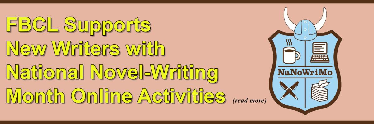 FBCL Supports New Writers with National Novel-Writing Month Online Activities